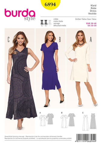 Burda - BD6894 Misses Dress - WeaverDee.com Sewing & Crafts - 1
