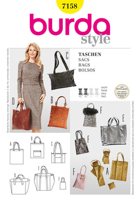 Burda - BD7158 Trendy Bags - WeaverDee.com Sewing & Crafts - 1