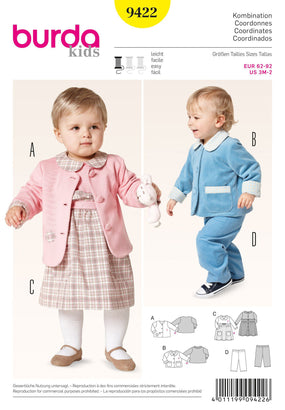 Burda - BD9422 Boys' & Girls' Outfit Coordinates - WeaverDee.com Sewing & Crafts - 1