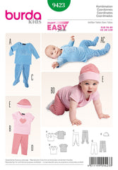 Burda - BD9423 Babies' Outfit - WeaverDee.com Sewing & Crafts - 1