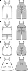 Burda - BD9424 Toddler Dungarees - WeaverDee.com Sewing & Crafts - 1