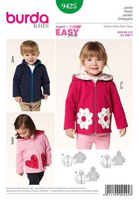 Burda - BD9425 Boys' & Girls' Jackets - WeaverDee.com Sewing & Crafts - 1