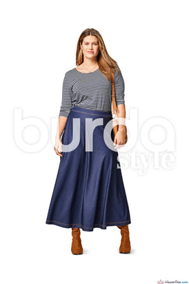Burda Pattern BD6491 Women's Flared Skirt