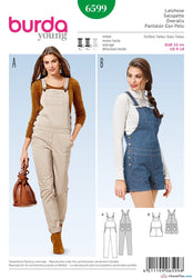 Burda - BD6599 Dungarees - WeaverDee.com Sewing & Crafts - 1