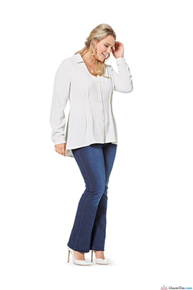 Burda - BD6615 Plus Size Blouse | EASY - WeaverDee.com Sewing & Crafts - 1