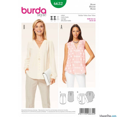 Burda - BD6632 Misses Blouse - WeaverDee.com Sewing & Crafts - 1