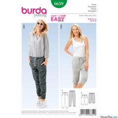 Burda - BD6659 Misses Pants | Easy - WeaverDee.com Sewing & Crafts - 1