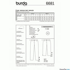 Burda - BD6681 Misses Pants | Easy - WeaverDee.com Sewing & Crafts - 1