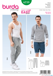 Burda - BD6719 Men's Jogging Pants - WeaverDee.com Sewing & Crafts - 1