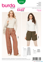 Burda - BD6735 Misses' Pants | Easy - WeaverDee.com Sewing & Crafts - 1