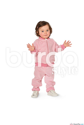 Burda Pattern BD9349 Baby's Jogging Suit