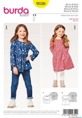 Burda Pattern BD9350 Child's Dresses