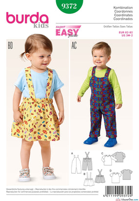 Burda - BD9372 Child's Dungarees, Tops & Skirts - WeaverDee.com Sewing & Crafts - 1