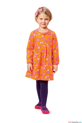 Burda - BD9379 Girl's Dress | EASY - WeaverDee.com Sewing & Crafts - 1