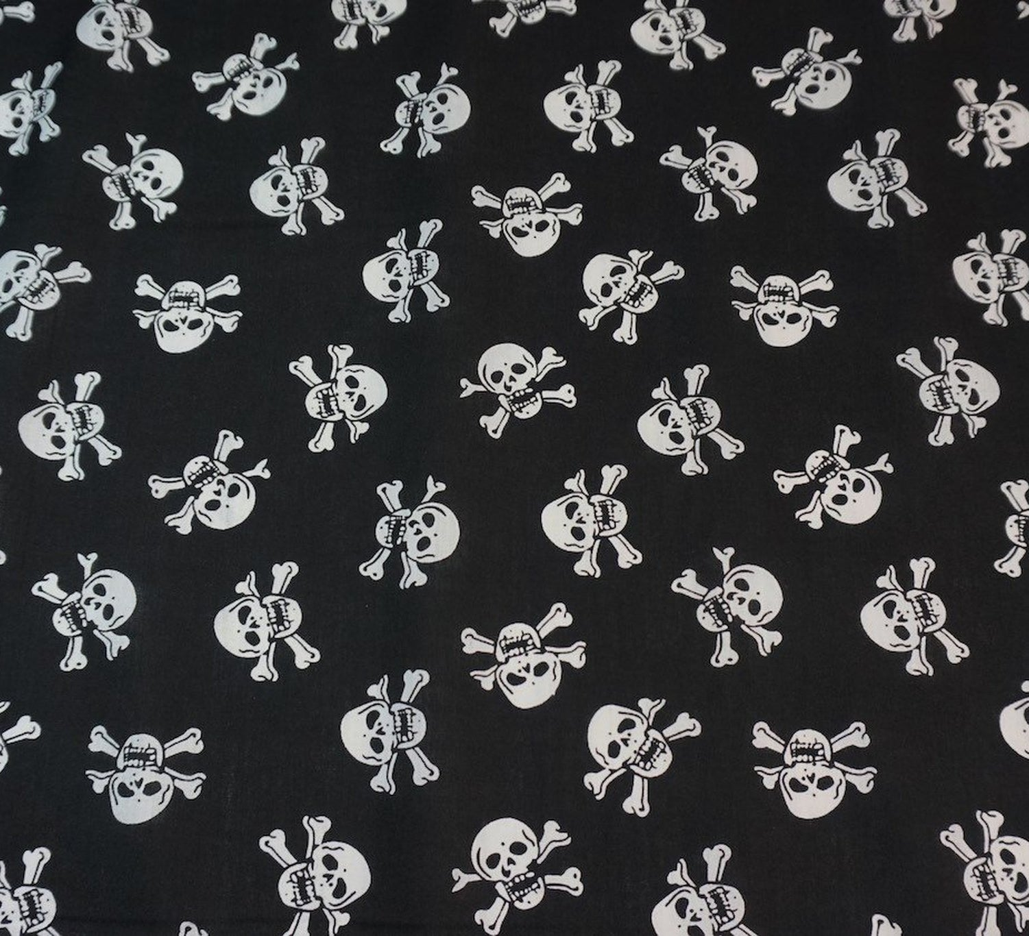 Black and white spotty craft fabric poly-cotton sold per half metre