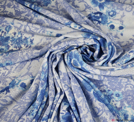 Powernet Rose Fabric - Blue