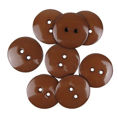 Favourite Findings Buttons: Brown Large 22mm (pack of 9)