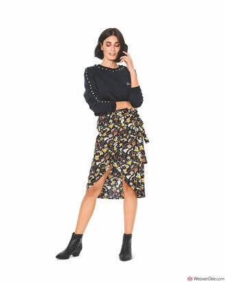 Burda Pattern BD6200 Misses' Wrap Skirt with Waistband & Tie Bands