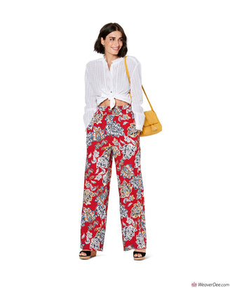 Burda Pattern BD6229 Misses' Wide Leg Trousers