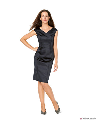 Burda Pattern BD6236 Misses' Dress in Wrap Look – V-Neck – Over-cut Shoulders
