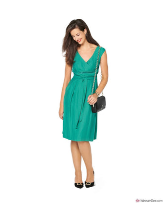 Burda Pattern BD6239 Misses' Dress with Band at the Waist – Over-cut Shoulders