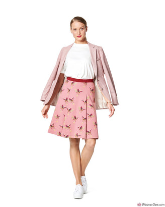 Burda Pattern BD6247 Misses' Skirt with Pleats – Flared Shape