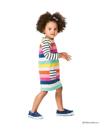 Burda Pattern BD9296 Toddlers' Shirtdress with Pockets –  Dress with Gathered Skirt
