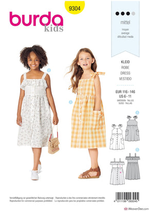 Burda Pattern BD9304 Children's Pinafore Dress