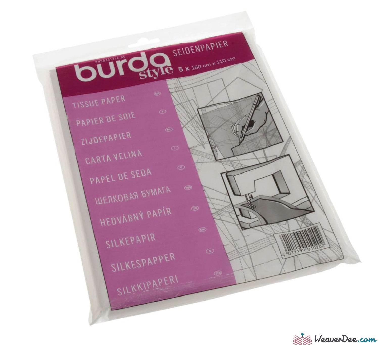 BURDA Copy Tracing Carbon Paper Yellow /& White or Blue /& Red