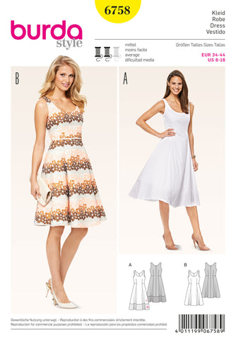Burda - BD6758 Misses Dress - WeaverDee.com Sewing & Crafts - 1