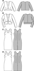 Burda - BD6773 Misses Dress & Jacket | Easy - WeaverDee.com Sewing & Crafts - 1