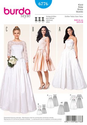 Burda - BD6776 Misses Wedding Dress - WeaverDee.com Sewing & Crafts - 1