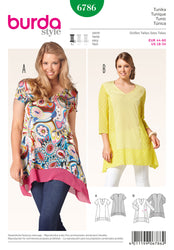 Burda - BD6786 Misses Tunic | Easy - WeaverDee.com Sewing & Crafts - 1