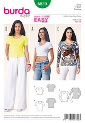 Burda - BD6820 Misses Tops | Easy - WeaverDee.com Sewing & Crafts - 1