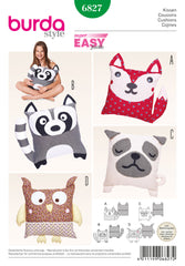 Burda - BD6827 Animal Cushions | Easy - WeaverDee.com Sewing & Crafts - 1