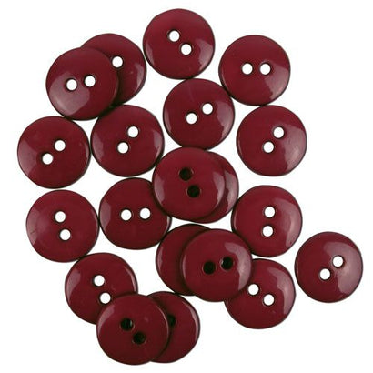 Favourite Findings Buttons: Burgundy Small 16mm (pack of 20)