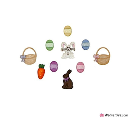 Dress It Up® Embellishment Buttons - Easter Basket