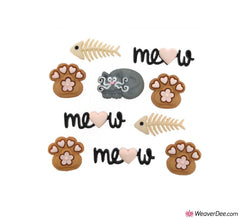 Dress It Up® Embellishment Buttons - Meow