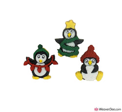 Dress It Up® Embellishment Buttons - Christmas Penguins