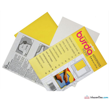 Burda - Burda Dressmaker's Carbon Paper [Yellow & White] - WeaverDee.com Sewing & Crafts - 1