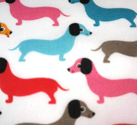 Poly Cotton Fabric - Sausage Dog