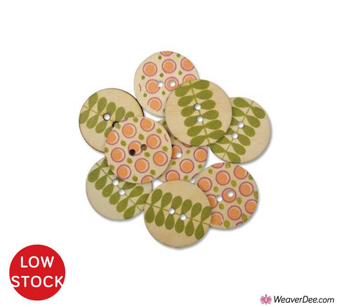 Indian Summer Wood Buttons • Organic Elements