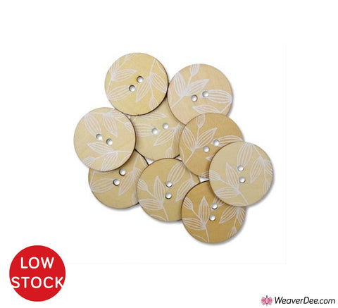 Meadow Flowers Wood Buttons • Organic Elements