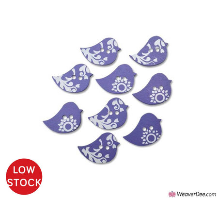 For the Birds Wood Buttons • Organic Elements