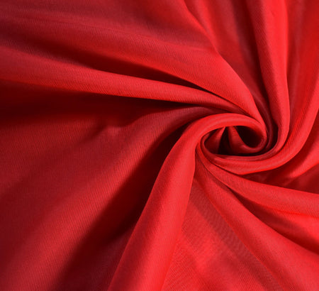 Chiffon Fabric / Red