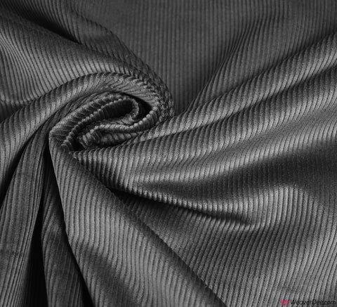 Cotton Corduroy Fabric - Dark Grey (8 Wale)