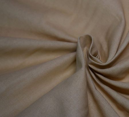 Plain Cotton Fabric / Beige