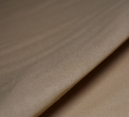 Beige Plain Cotton Fabric (60 Square)