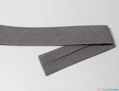 PRYM 100% Cotton Bias Binding / Grey