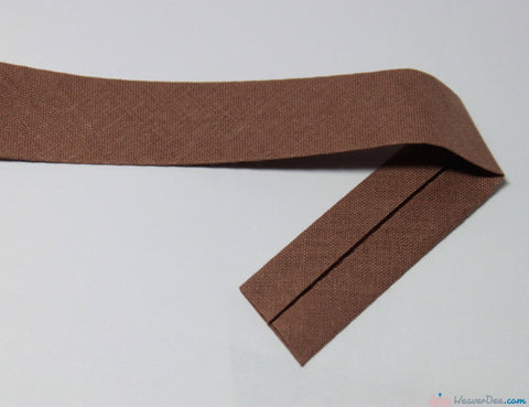 PRYM 100% Cotton Bias Binding / Mid Brown